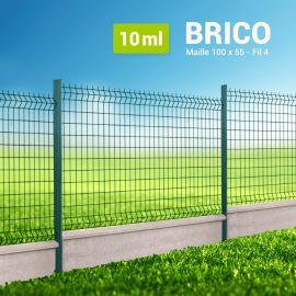 Kit Clôture Rigide avec Soubassement - Brico - 10 ml