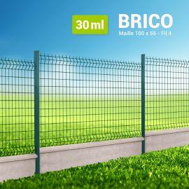 Kit Clôture Rigide avec Soubassement - Brico - 30 ml
