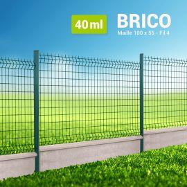 Kit Clôture Rigide avec Soubassement - Brico - 40 ml