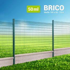 Kit Clôture Rigide avec Soubassement - Brico - 50 ml