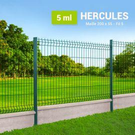 Kit Clôture Rigide avec Soubassement - Hercules - 5 ml