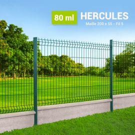 Kit Clôture Rigide avec Soubassement - Hercules - 80 ml