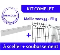 Kit Clôture Rigide avec Soubassement - Hercules