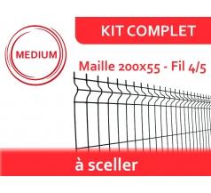 Kit Clôture Rigide à Sceller - Médium