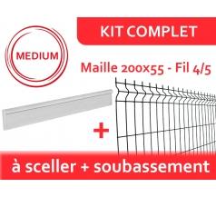 Kit Clôture Rigide avec Soubassement - Médium