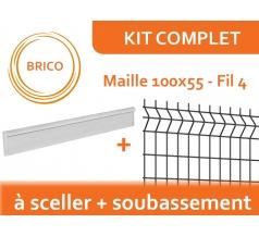 Kit Clôture Rigide avec Soubassement - Brico
