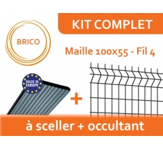 Kit Clôture Rigide avec Occultant - Brico
