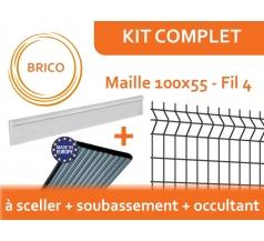 Kit Clôture Rigide avec Soubassement et Occultant - Brico