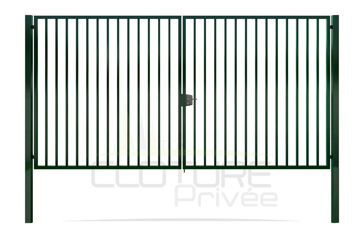 portail double vantaux barreaudé